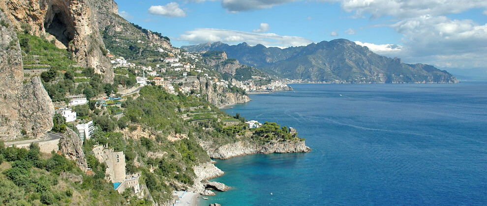 Sorrento and Amalfi Coast panorama